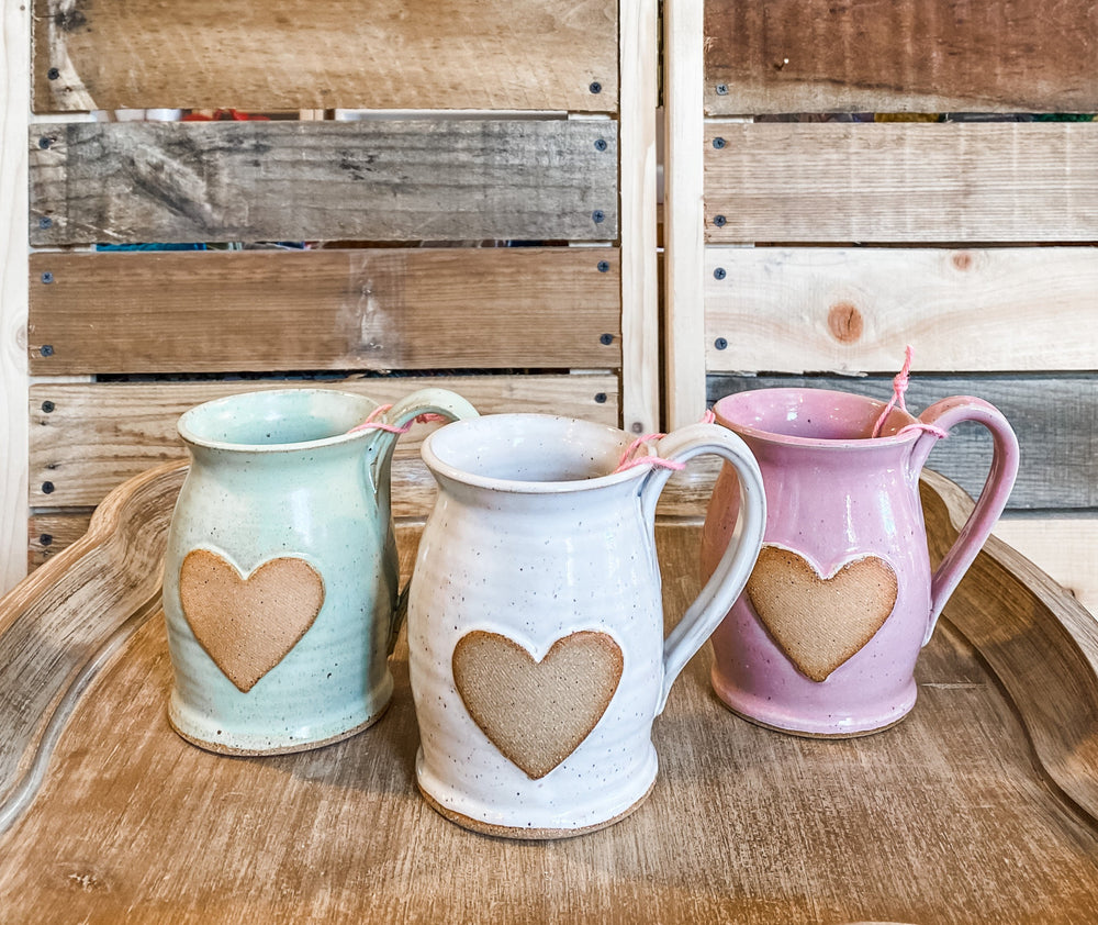 Heart Mug- Handthrown (Mulitple Colors)