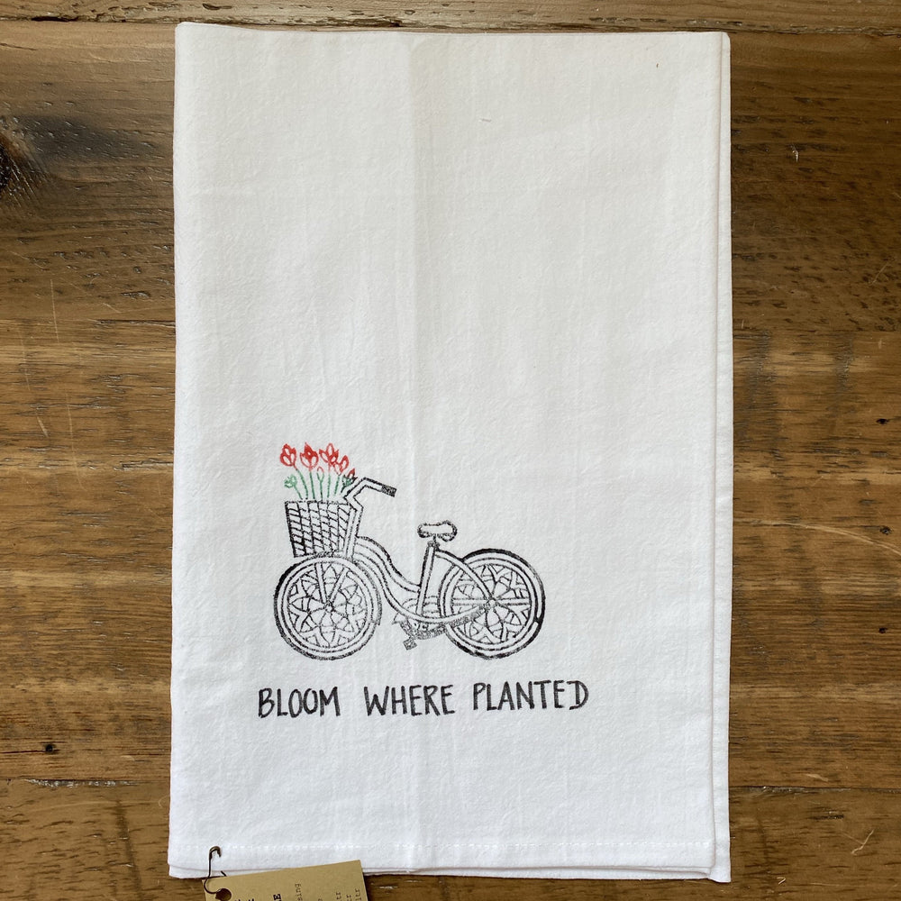 Bicycle Tea Towel- White
