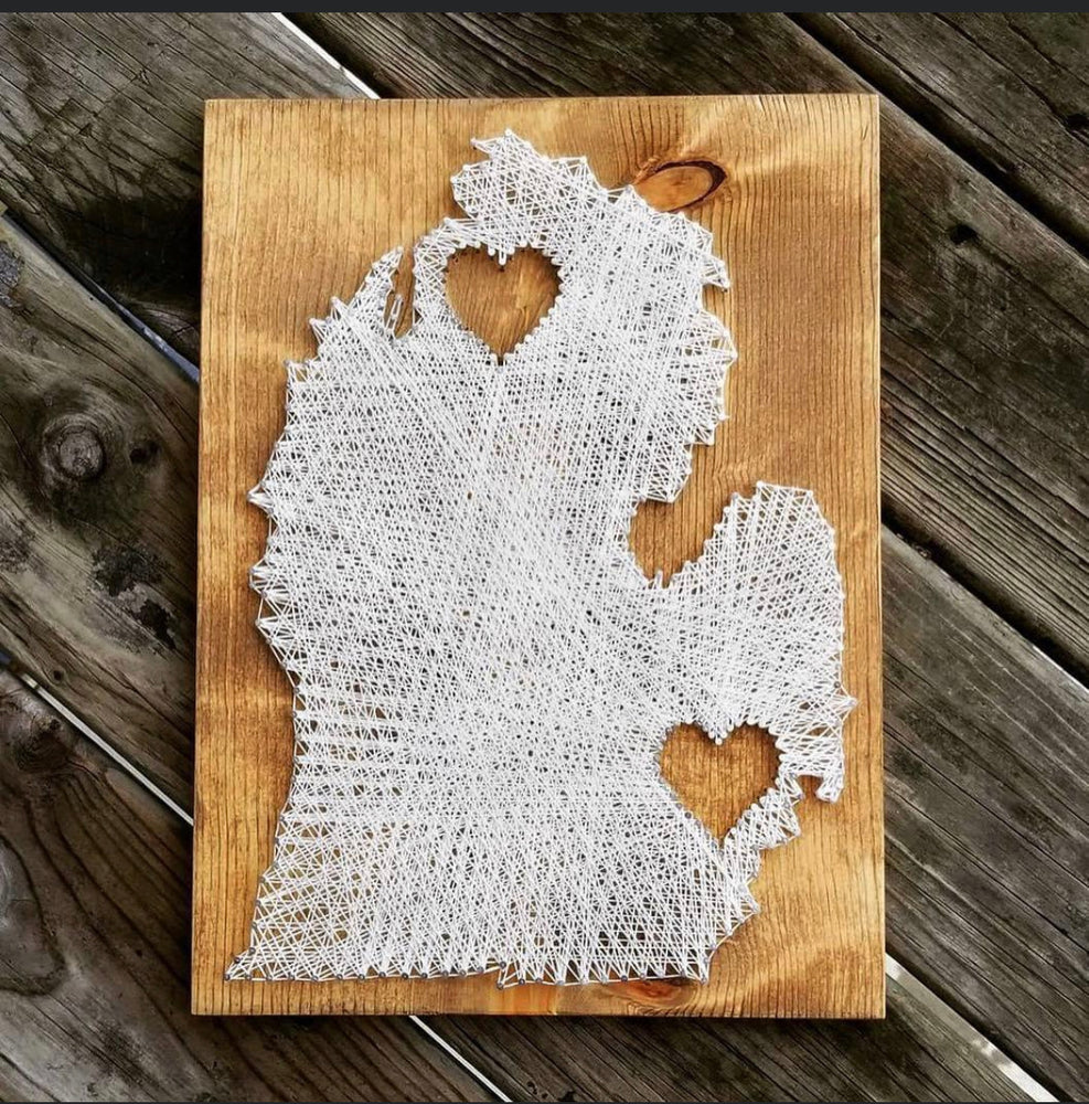 Gather Studios - Michigan Heart String Art Kit