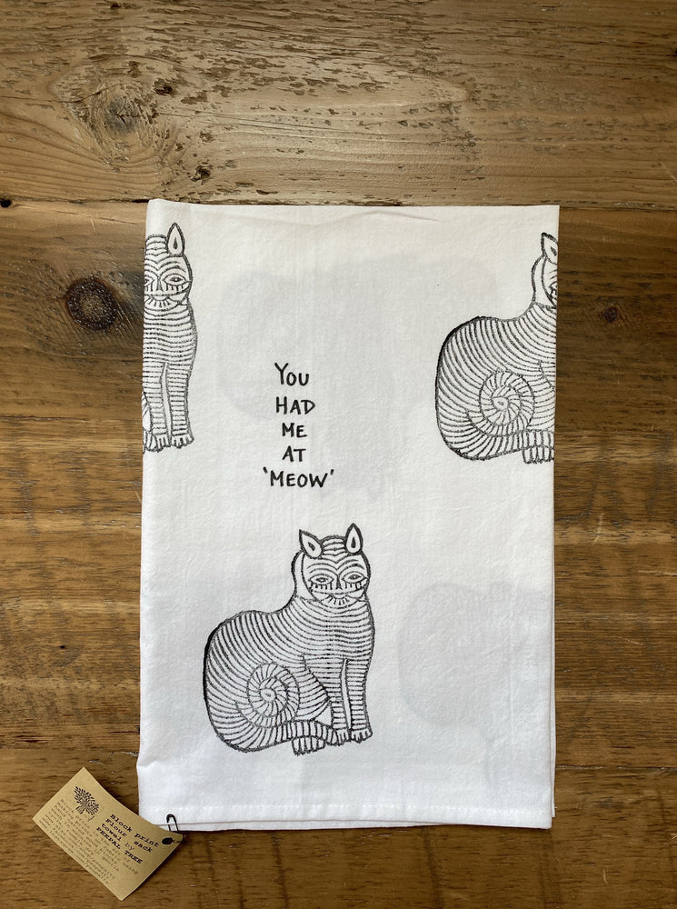 Cat Lover Tea Towel- White