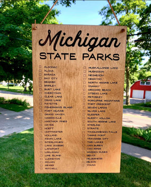 Michigan State Parks Check List