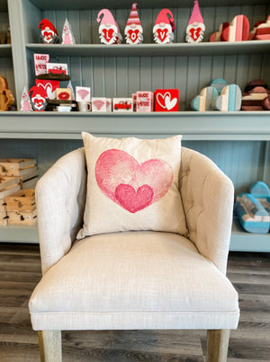 PCB - Watercolor Heart Pillow ( Multiple Options)