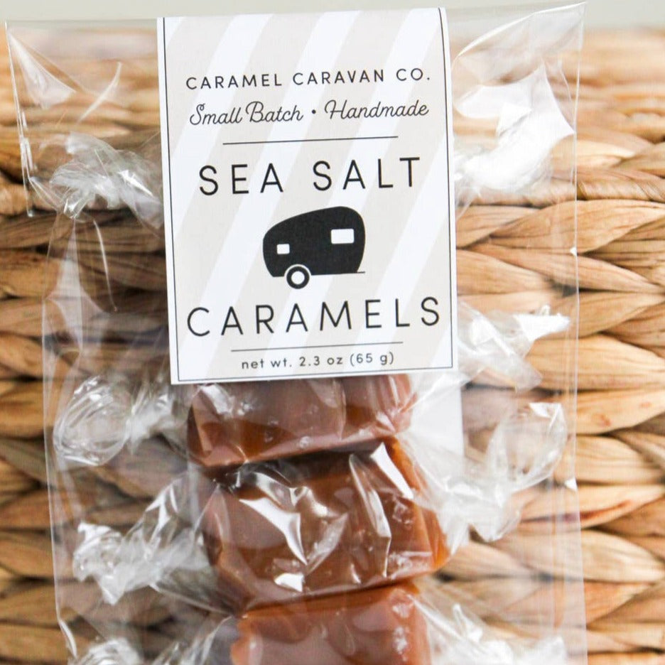Caramel Caravan Co. - Sea Salt Caramels - 4 Piece Bag
