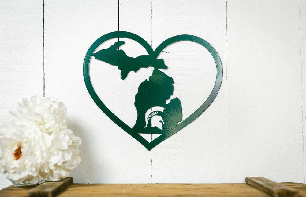 MSU Heart Metal Sign