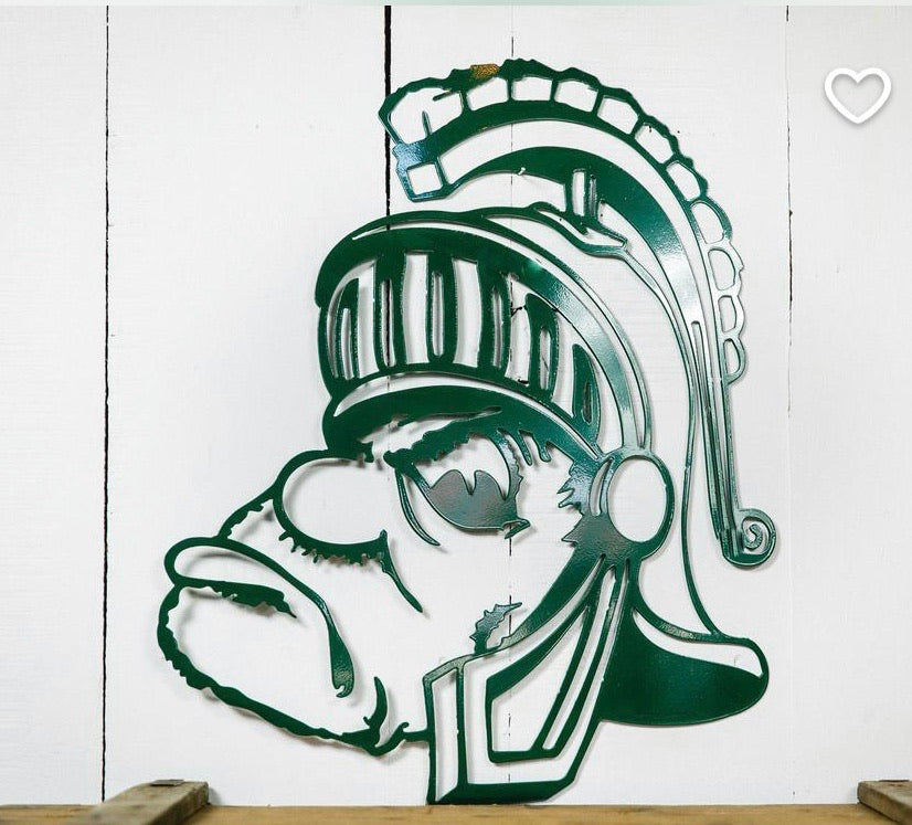 MSU Gruff Metal Sign
