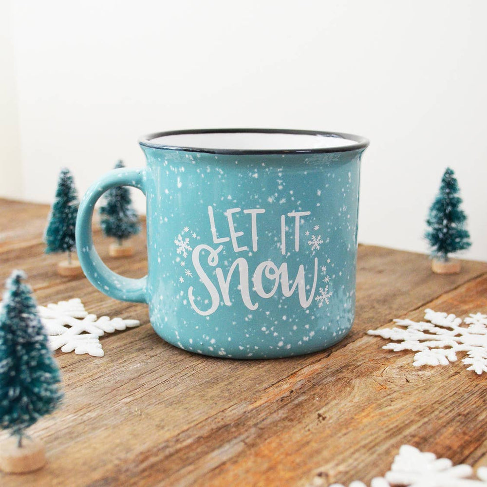 Pen & Paint - Let it Snow Blue Christmas Holiday Mug