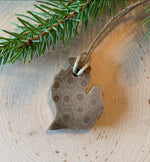 Ava's Illuminations - Petoskey Stone L.P Michigan Shaped Ornament