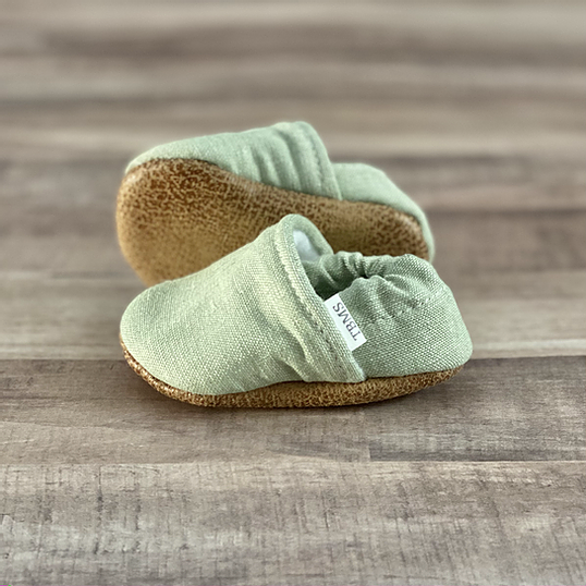 Mint Textured Moccasins (Multiple Sizes Available)