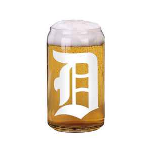 "Old English ""D"" Can Glass"