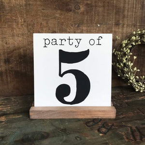 4Love - Party of 5 Mini Sign