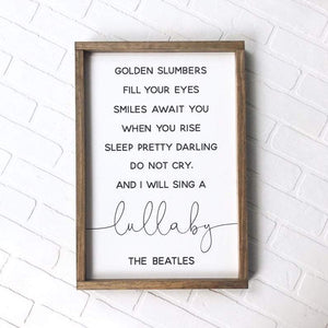 The Beatles Lullaby Framed Sign