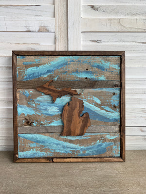Out of the Barn - Michigan 15 x 15 (Multiple Colors)