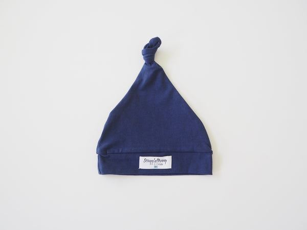 Knotted Beanie - Navy