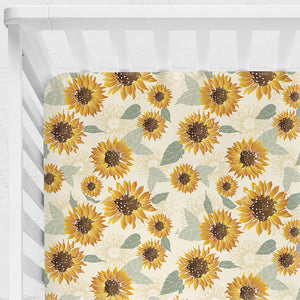 Sunflowers Fitted Sheet ***BACK ORDER***