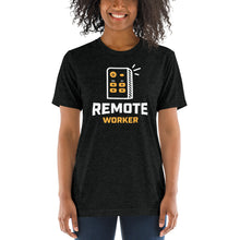 Load image into Gallery viewer, Remote Worker - Black Tri-blend Unisex T-Shirt