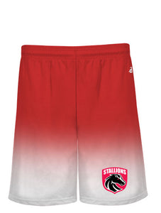 Adult Ombre Athletic Shorts