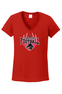 Ladies Cotton V-Neck T'Shirt