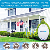 RX-1 Ultrasonic Pest Repeller - Electronic & Ultrasound, Indoor Plug-In Repellent - Get rid of - Rodents, Mice, Rats, Squirrels, Bats, Insects, Bed Bugs, Ants, Fleas, Mosquitos, Fly, Spiders, Roaches!