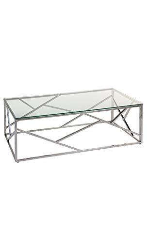 Santiago Pons - Table Basse Verre et Chrome Cristal