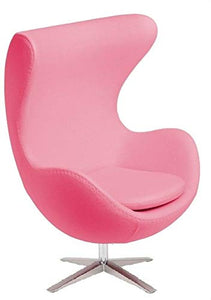 ElleDesign Egg Chair Fauteuil inclinable en Cachemire Arne Jacobsen Rose