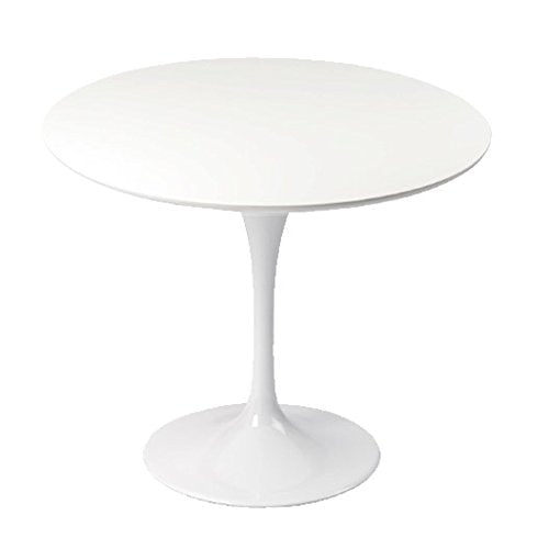 Table Design Ronde 90cm Blanche