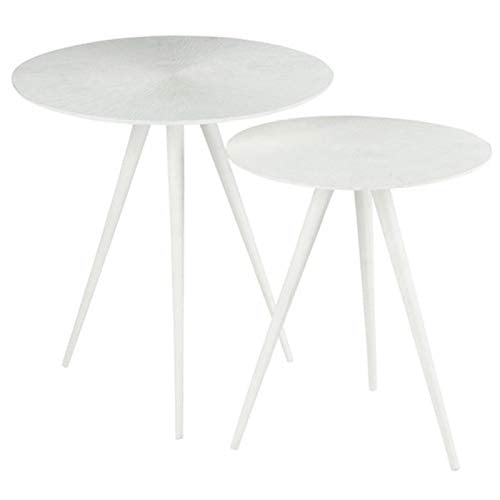 Paris Prix - Lot De 2 Tables D'appoint salvy 51cm Blanc
