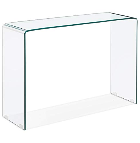Alterego Table Console Design 'Bobby Console' en Verre Transparent