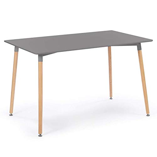 IDMarket - Table à Manger scandinave SARA 120 CM Grise Anthracite