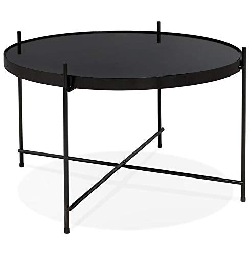 Alterego Table Basse 'Kolos Medium' Noire