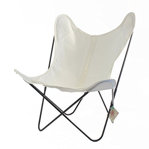 Fauteuil AA Butterfly - Structure Noire (Blanc)