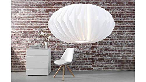 Suspension design blanche Luna 50 cm