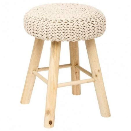 Atmosphera - Tabouret Beige Suzette
