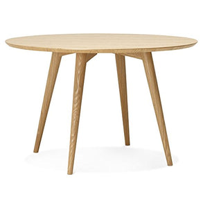 Alterego - Table à dîner Ronde 'SWEDY' en Bois Style scandinave - Ø 120 cm