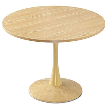 Menzzo Necy Table Ronde, Bois, Chêne Clair, Taille Unique