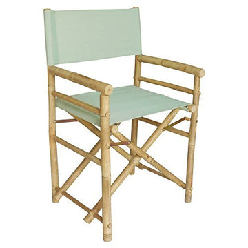 Bamboo 18 Inch Standard Height Directors Chairs with Solid Cover by Zew
