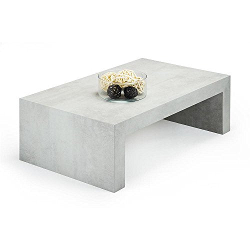 Mobili Fiver, Table Basse, First H30, Béton, 90 x 54 x 30 cm Mélaminé, Made in Italy