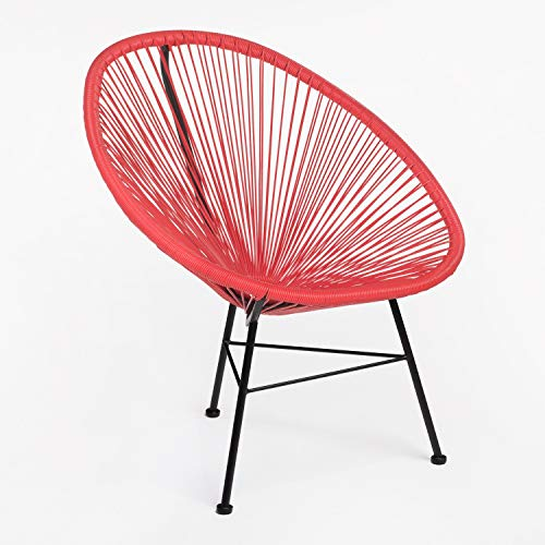 SKLUM Chaise New Acapulco Rouge Coquelicot - (Plus de Couleurs)