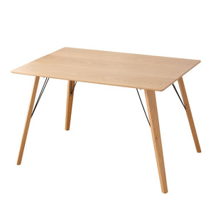 interougehome Table de Salle à Manger en Bois Design scandinave - 4-6 Personnes