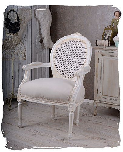 ROYAL MÉDAILLON FAUTEUIL LOUIS XVI STYLE FILET BLANC PALAZZO EN EXCLUSIVITÉ