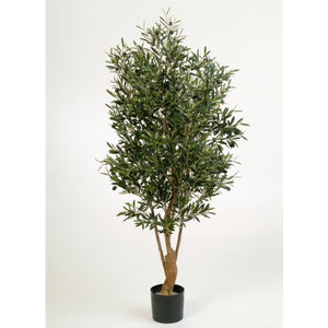 artplants Olivier Artificiel en Pot Alexandros, 4170 Feuilles, 125 Fruits, 180cm - Faux Arbre/Olivier en Pot