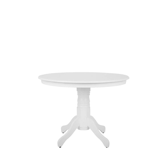 Beliani Table Ronde 100 cm Blanche Akron