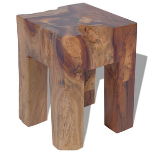 Festnight Tabourets en Teck Massif Table d'appoint Nature Marron 30 x 30 x 40 cm