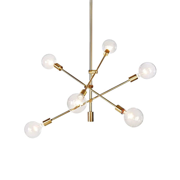 Hobaca® Nordic E27 Postmodern Simple Molécule d'Or, suspension moderne LED