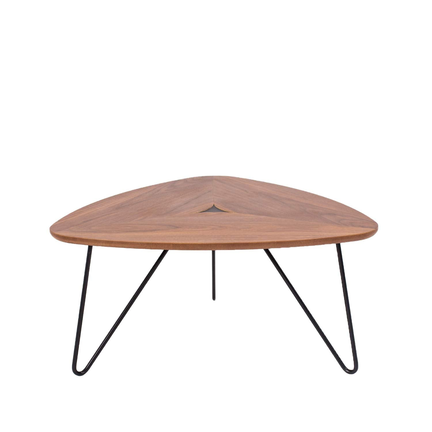 Marque Amazon - Rivet - Table basse triangulaire, en noyer et à