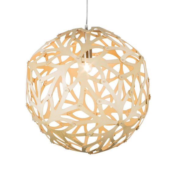 Suspension Boule Wooden Bois Naturel En Mdf Ajouré