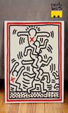 Giallobus - Cadre - Impression sur Toile Canvas - Keith Haring - Untitled - Pop Art - 100 x 140 CM