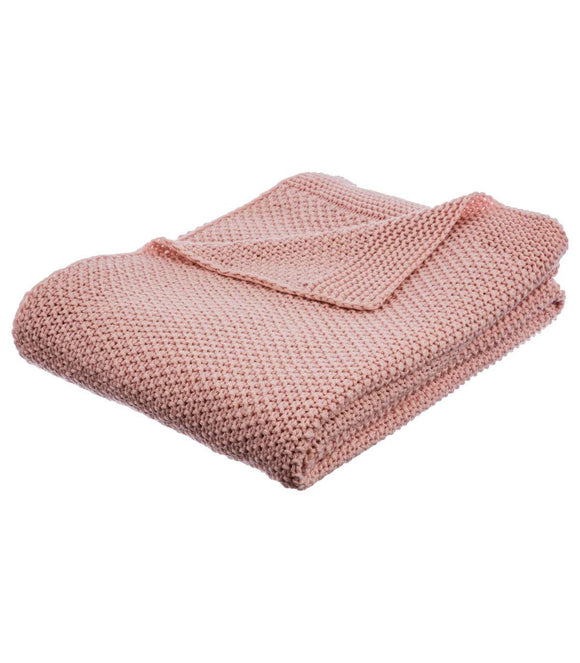 Atmosphera - Plaid Tricot Rose 125X150