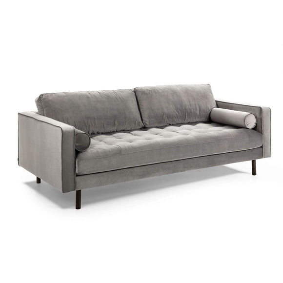 Kave Home - Canapé Debra 2 Places Velours Gris