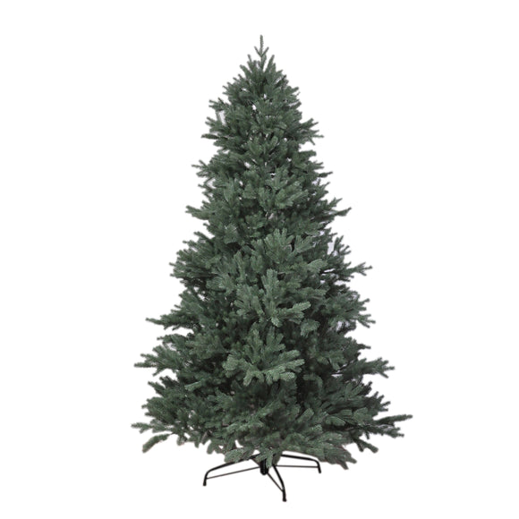 RS Trade 1418 PE Arbre de Noël Artificiel moulé Injection 150 cm (Ø env. 106 cm), env. 2375 Branches, Sapin presqu'ininflammable, système Pliable Montage Rapide, trépied Sapin de Noël métal Compris