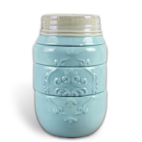 4 Piece Ceramic Mason Jar Measuring Cup (2 Colors)